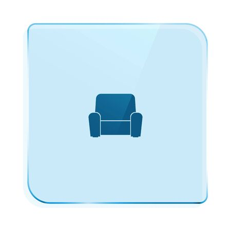 cosiness: Flat paper cut style icon of furniture. Vector illustration
