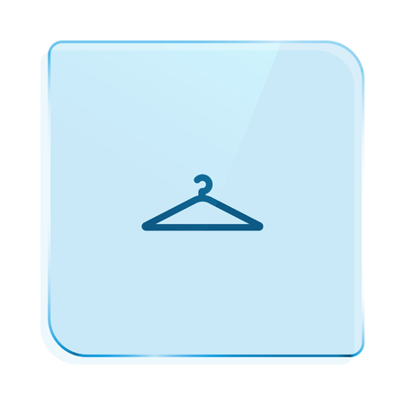 paper hanger: Flat paper cut style icon of hanger. Vector illustration Illustration
