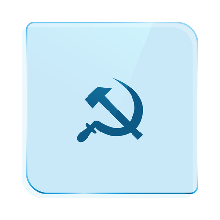 Hammer and sickle isolated stock vector icon illustration Illustration