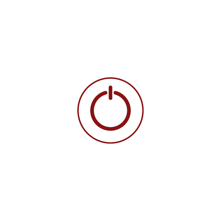 Power switch icon. Flat design vector style.