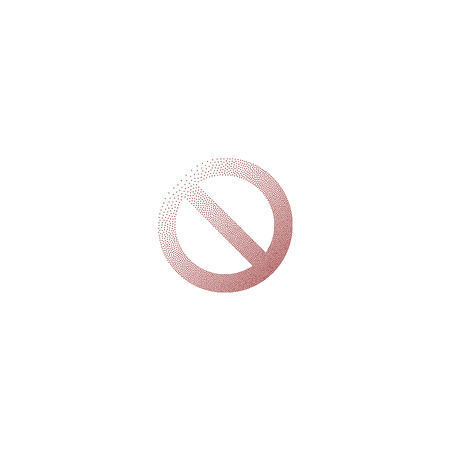 stippled: Stippled forbidden sign isolated stock vector icon illustration