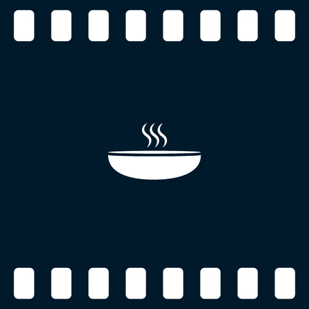 proper: Hot proper meal plate vector illustration icon