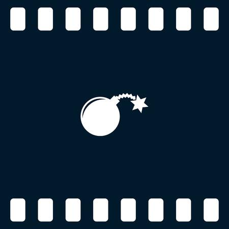 tnt: TNT bomb flat icon stock vector illustration Illustration