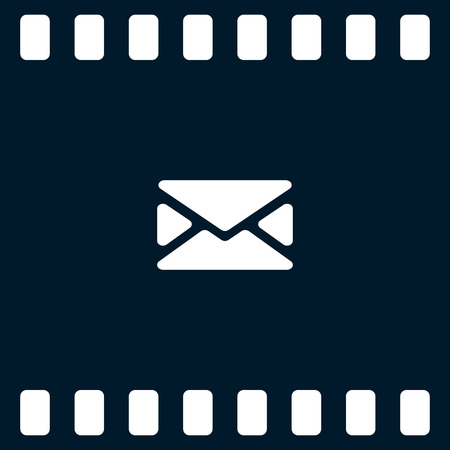 unread: Flat paper cut style icon of envelope. E-mail symbol