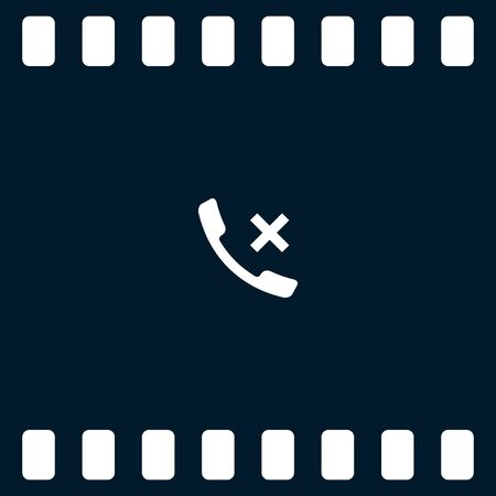 hangup: Hang up the phone flat vector icon. Stock illustration