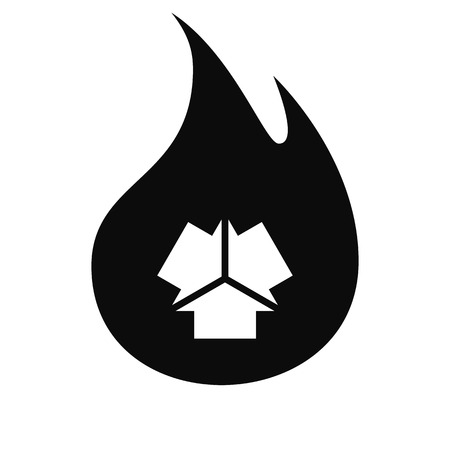 groupware: Three arrows facing each other stock vector icon illustration