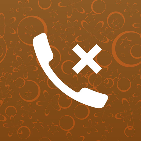caller: Hang up the phone flat vector icon. Stock illustration
