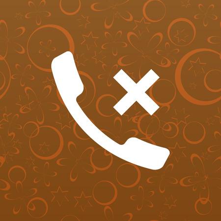 call log: Hang up the phone flat vector icon. Stock illustration