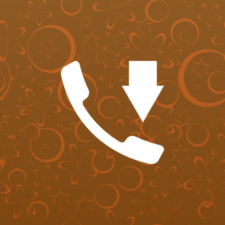 hangup: Incoming call flat style stock vector icon illustration Illustration