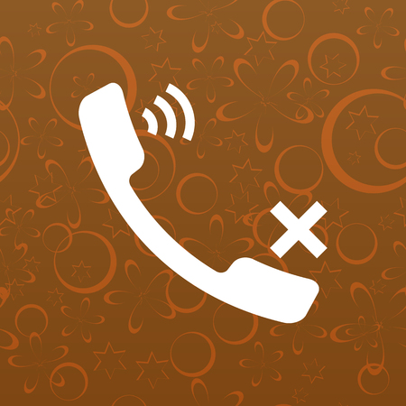 caller: Mute up the microphone flat vector icon illustration Illustration
