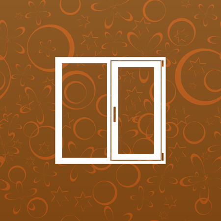 installer: Flat paper cut style icon of modern window. Vector illustration Illustration