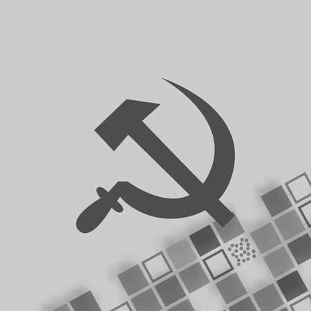 recompense: Hammer and sickle isolated stock vector icon illustration Illustration