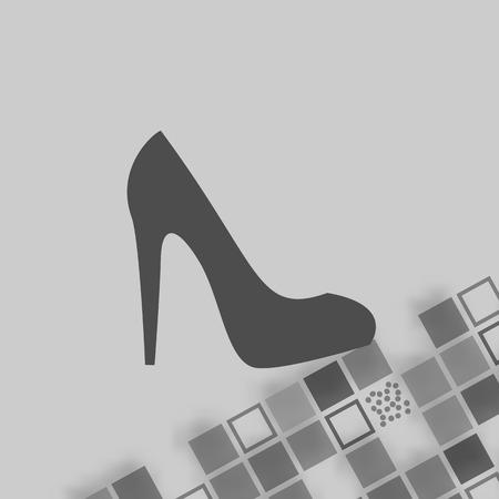 high heel shoe: Elegant women high heel shoe stock vector icon