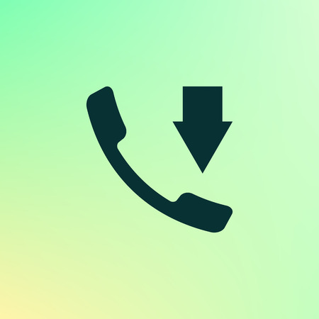 call log: Incoming call flat style stock vector icon illustration Illustration