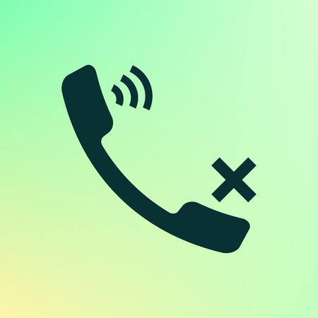 call log: Mute up the microphone flat vector icon illustration Illustration