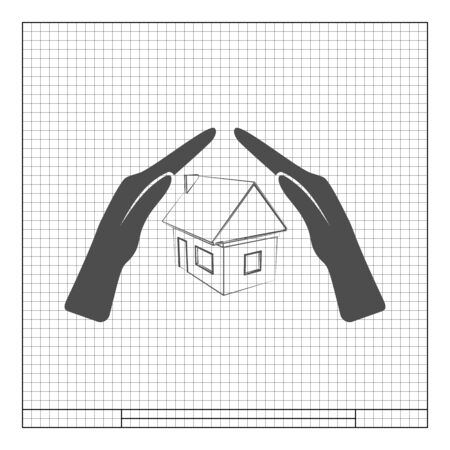 robberies: House insurance icon Illustration