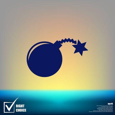 TNT bomb flat icon stock vector illustration Illustration