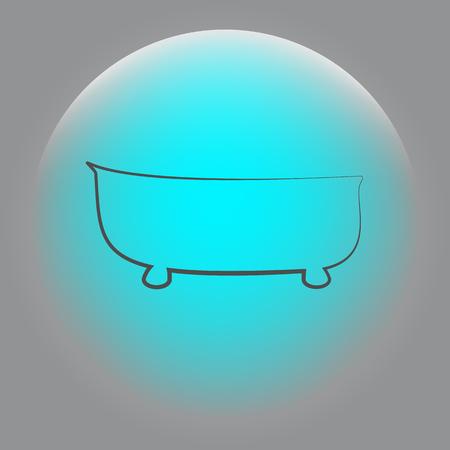 bath icon. bath vector illustration