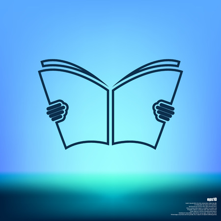 digital library: reading Book icon