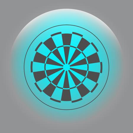 dart board symbol icon Illustration
