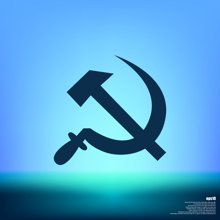 lenin: Hammer and sickle isolated stock vector icon illustration Illustration