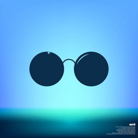 Sunglasses - flat style stock vector icon illustration Illustration