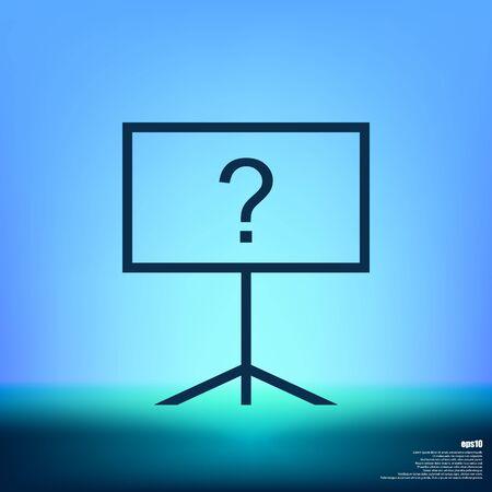 attract attention: Blackboard icon, flat design, vector eps10 illustration