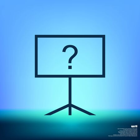 Blackboard icon, flat design, vector eps10 illustration