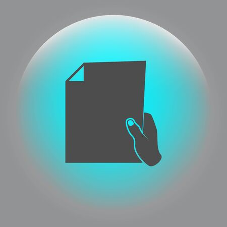 formalize: Sheet in hand icon
