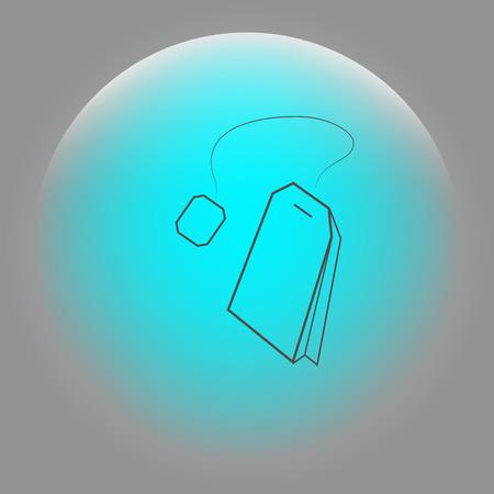 Teabag  tea bag line art icon for apps and websites