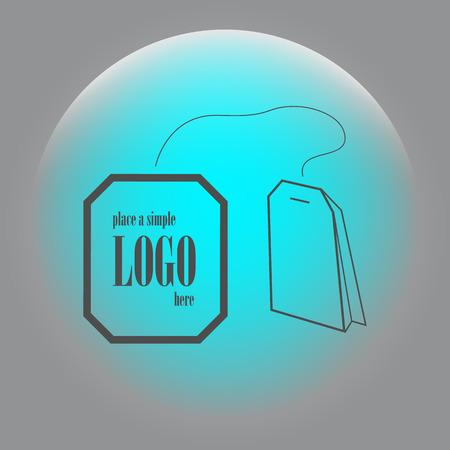 steep: Teabag  tea bag line art icon for apps and websites