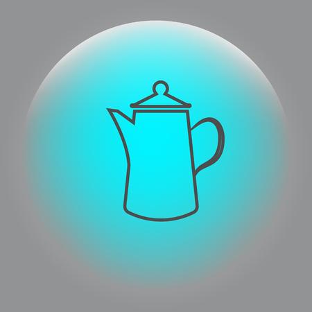 Teapot kettle on isolated, vector illustration Illustration