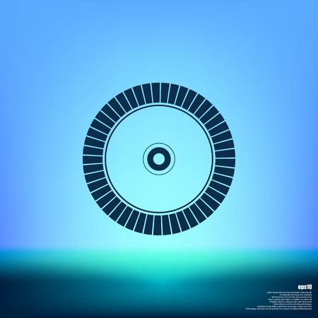 cutoff blade: Diamond disc for concrete cutting - vector icon Illustration