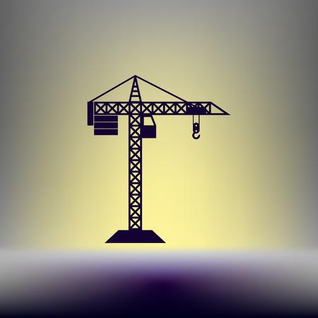 hook up: building construction crane icon Illustration