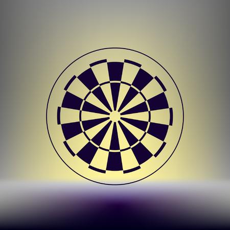 dart board: Dart board symbol icon
