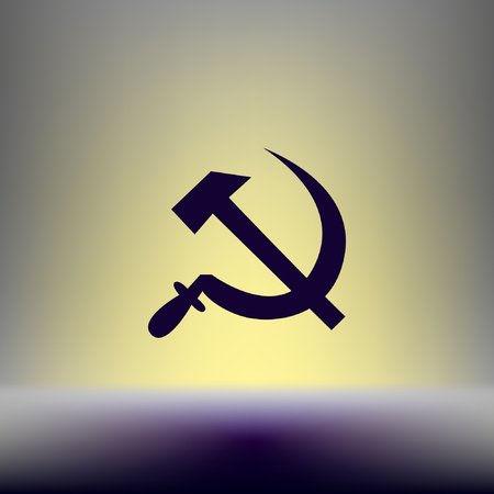 sickle: Hammer and sickle isolated stock vector icon illustration Illustration