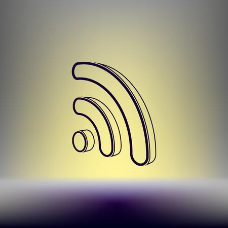 WiFi symbol icon. Vector illustration Illustration