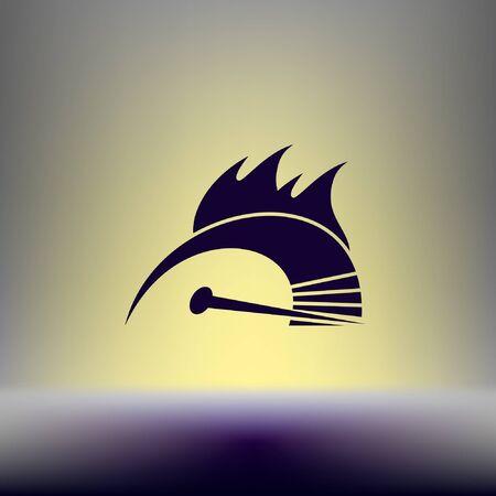 speed: High speed burning symbol icon