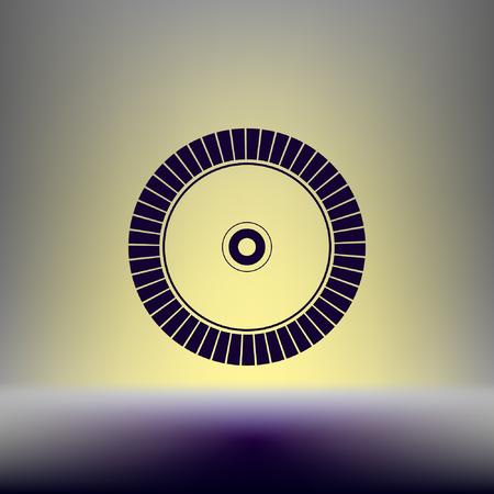 cutoff: Diamond disc for concrete cutting - vector icon Illustration