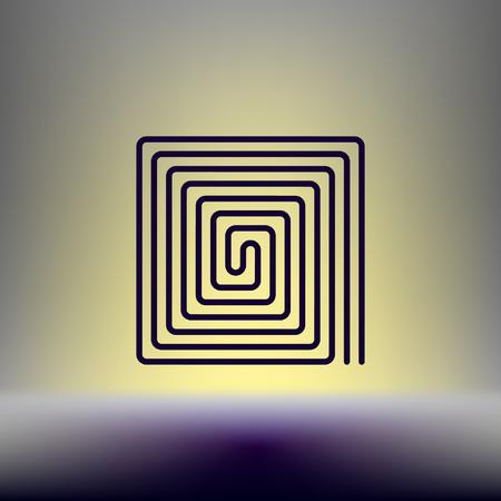 Flat paper cut style icon of floor heating. Vector illustration  イラスト・ベクター素材
