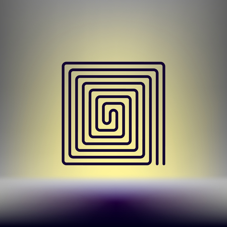 Flat paper cut style icon of floor heating. Vector illustration Stock Illustratie