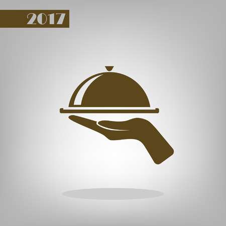 hot plate: Hot proper meal plate vector illustration icon