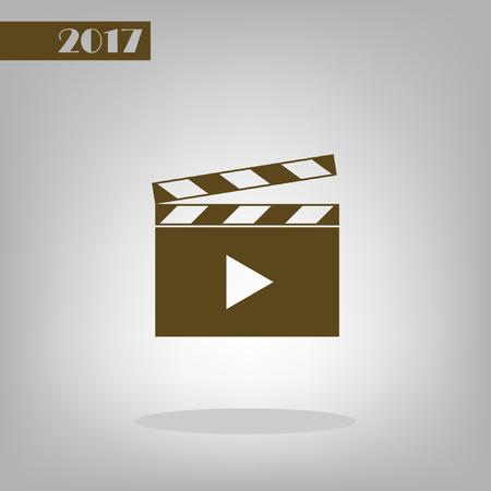 blockbuster: Media player icon vector illustration