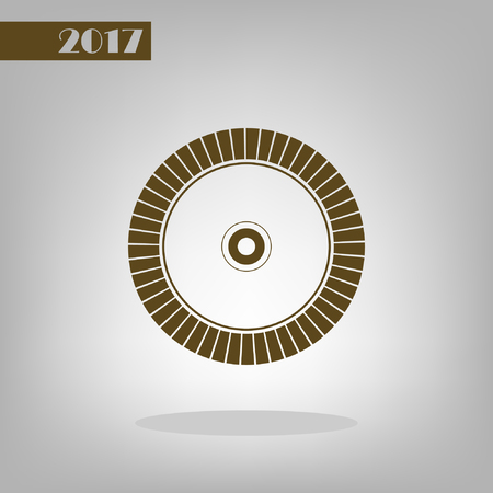 Diamond disc for concrete cutting - vector icon Illustration