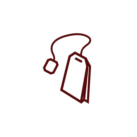 Teabag  tea bag line art icon for apps and websites