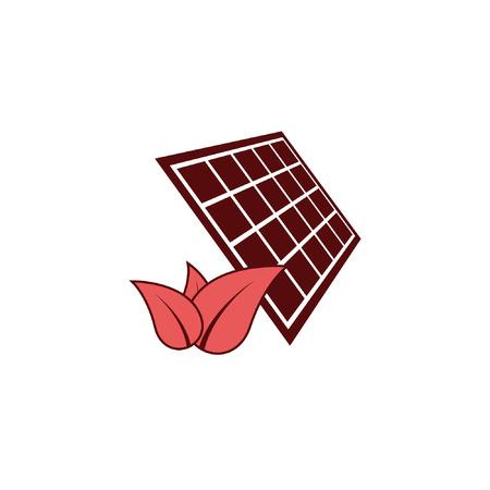 Solar energy eco concept icon Illustration