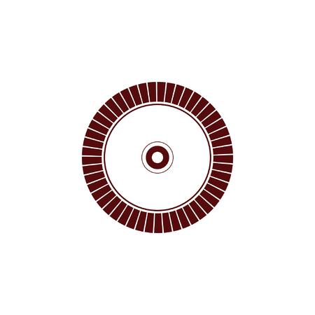 Diamond disc for concrete cutting - vector icon Иллюстрация