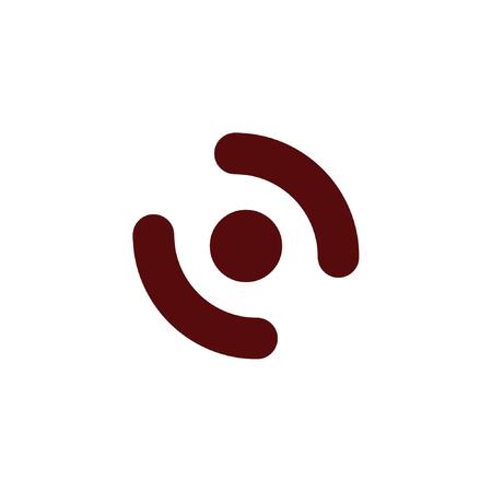 sleepiness: Smart phone vibrating icon. Modern minimalist mobile app flat simple icon.