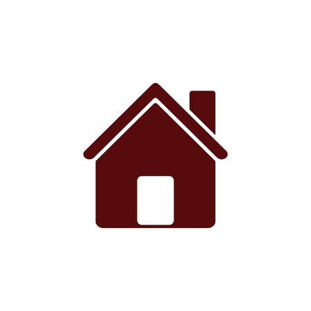 architecture bungalow: Flat paper cut style icon of house. Vector illustration