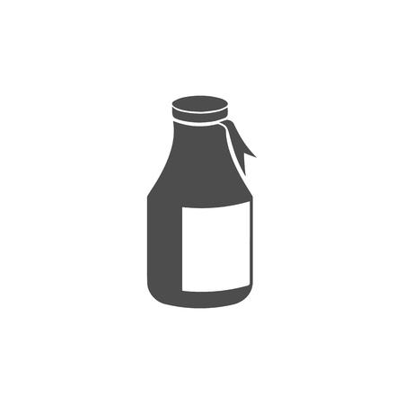 flat: Jar flat icon. Vector illustration.